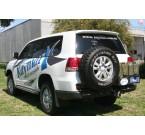 Задний бампер Kaymar с калитками Toyota LC 200 2007-2015