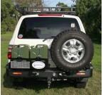 Задний бампер Kaymar с калитками Toyota LC 100/105 1997-2007