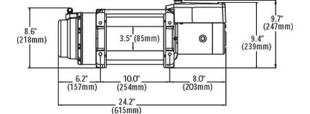 Электрическая лебедка Warn 16.5 ti Thermometric